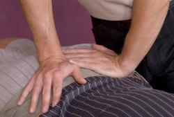 person receiving acupressure treatment